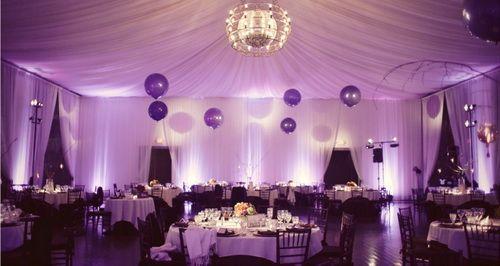 Purple Balloon Wedding Centerpieces