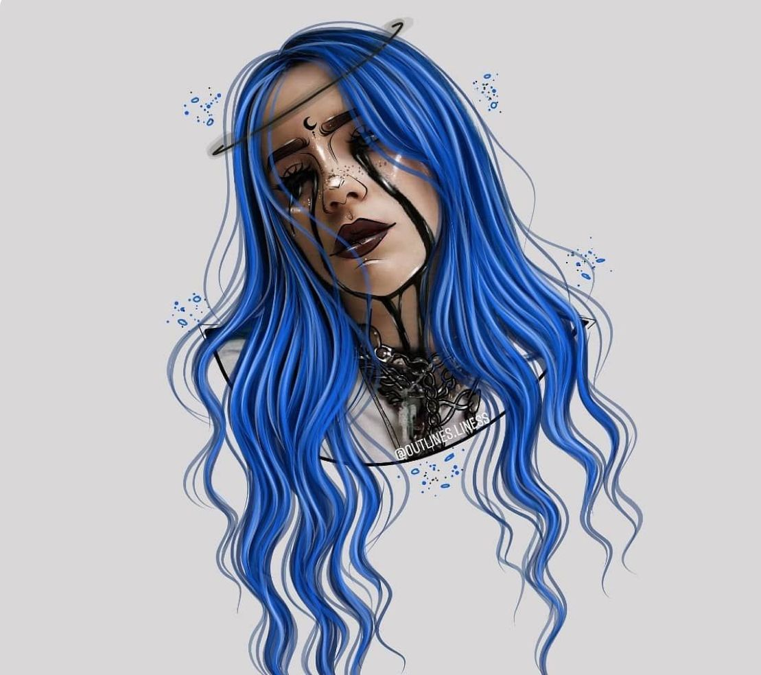 Pin By Paulina Valenzuela On Drip Drawings Billie Eilish Billie Girls Cartoon Art