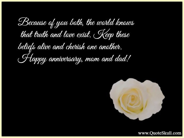 Happy Wedding Anniversary Quotes For Parents Happy Anniversary
