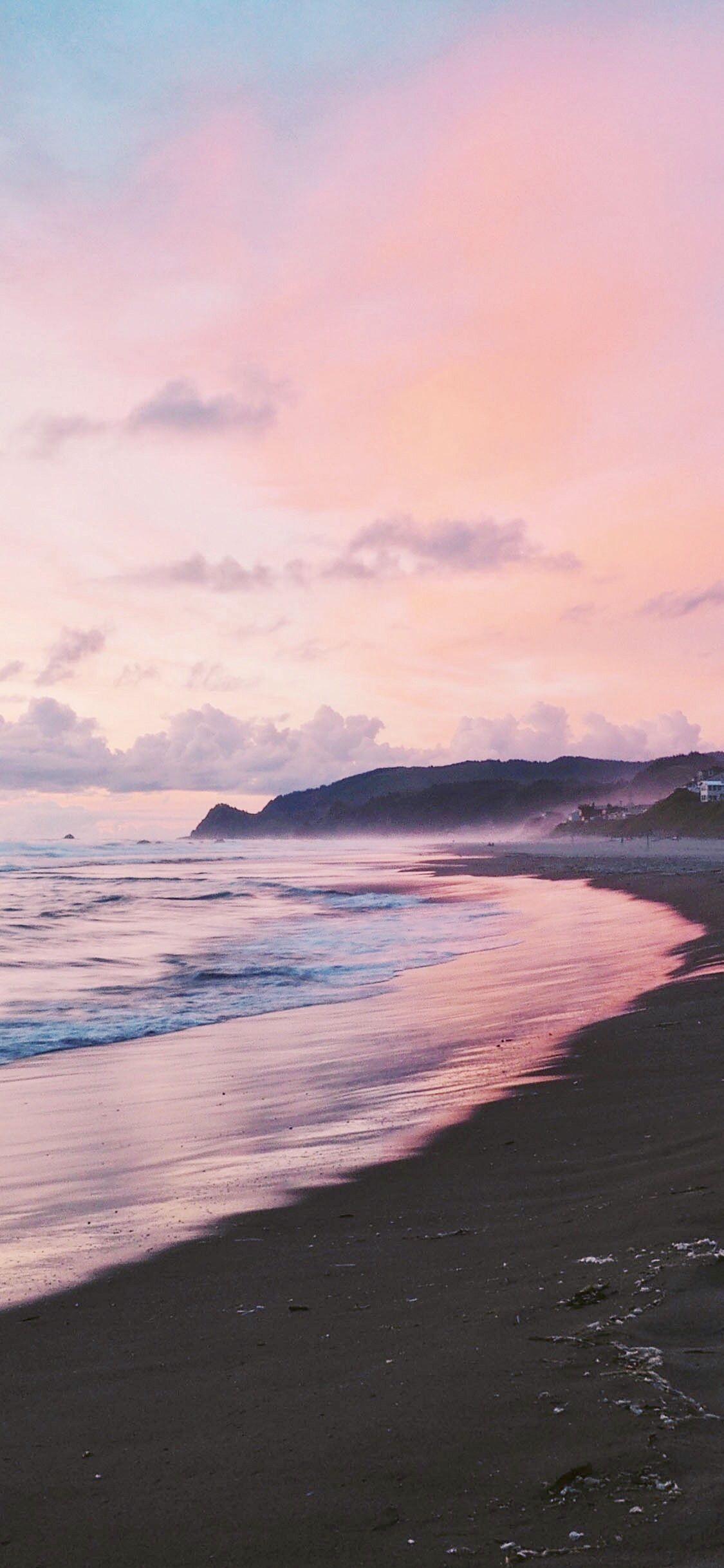 Pink Sunset Iphone Wallpaper Sunset Iphone Wallpaper Beach Wallpaper Sunset Wallpaper
