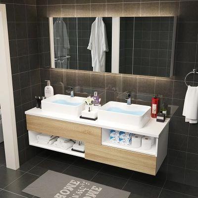 double basin vanity with big bathroom mirror bathroom cabinet