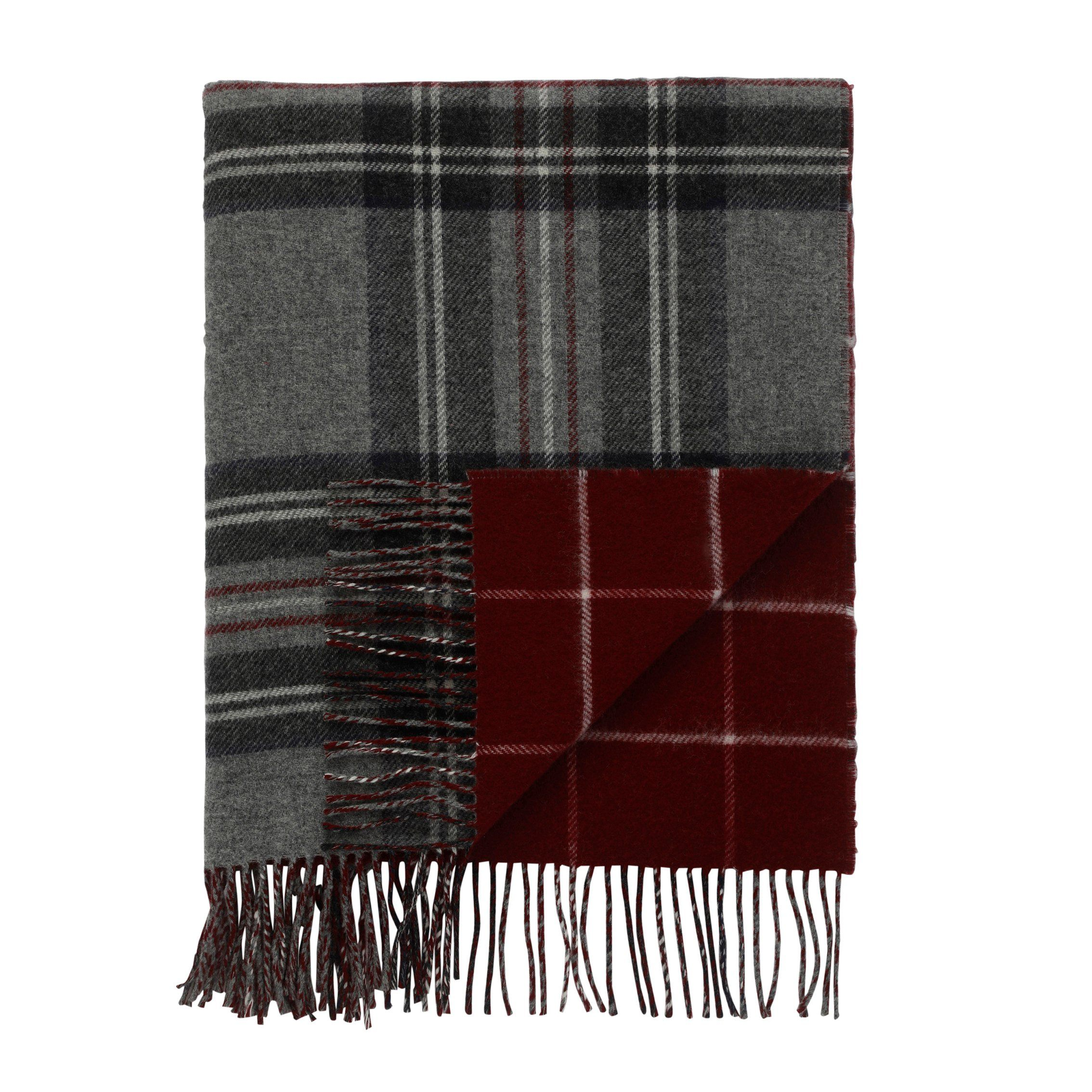 Reversible Lambswool Tartan And Tweed