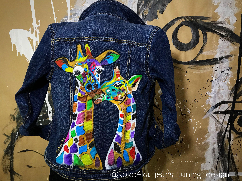 Photo of Giacca in denim dipinto a mano Giacca pittura con opere d'arte su arte su jeans Jeans Giacca con arte pop-art Disegno fiori ghirlanda di fiori Visualizza articolo