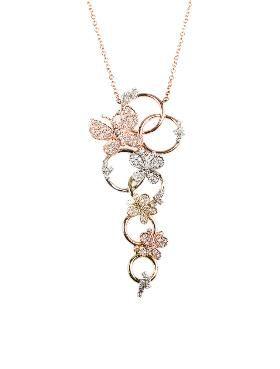 Tri Color Diamond Necklace Diamond Pendant Sets Diamond Pendant Necklace Simple Jewelry Design