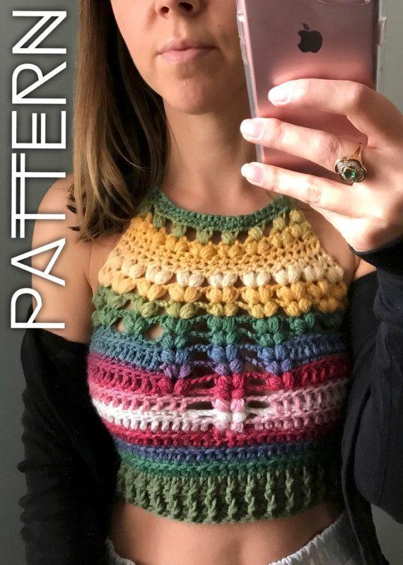 Crochet bralette pattern, crochet top pattern Bralette Top Pattern ...