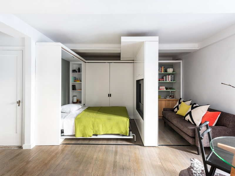 Small Bedroom Interior Design With Creative Divider (800×600) | Small  Bedrooms | Pinterest | Ideas Para And Bedrooms