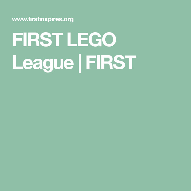 FIRST LEGO League | FIRST
