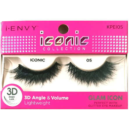 8ecd1d868b7 Kiss i-ENVY iconic Collection Glam Icon 3D Angle Eyelashes 1 Pair Pack -  iconic