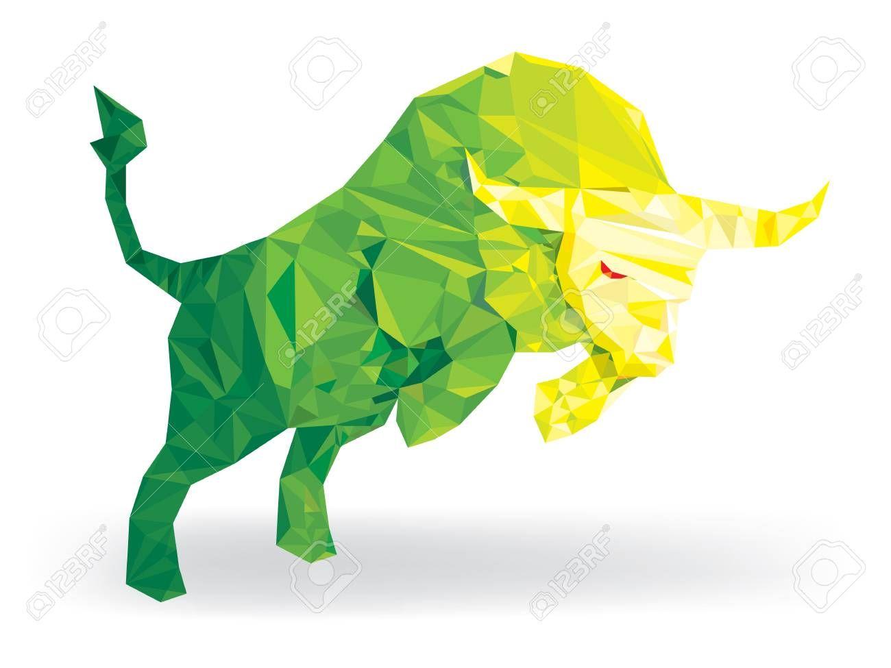 Bull Geomatric Pattern Lowpolygon Bullish Symbols On Stock Market Vector Illustration Sponsored Lowpolygon Bul In 2020 Cool Artwork Poster Prints Print Artist