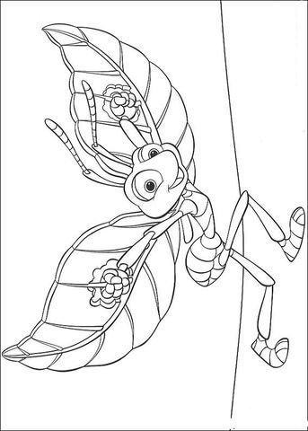Flik Is Ready To Fly Coloring Page Disney Coloring Pages Insect Coloring Pages Animal Coloring Pages