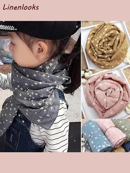 New Winter Warm Boys Girls Collar Baby Scarf Children Stars O Ring Neck Scarves