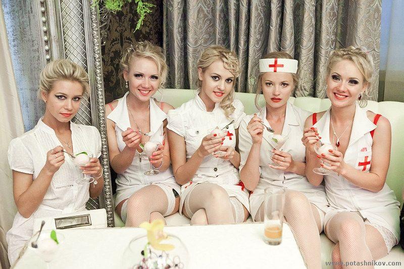 blonde nurse parade minsk belarus june 3 2011 by kulichik