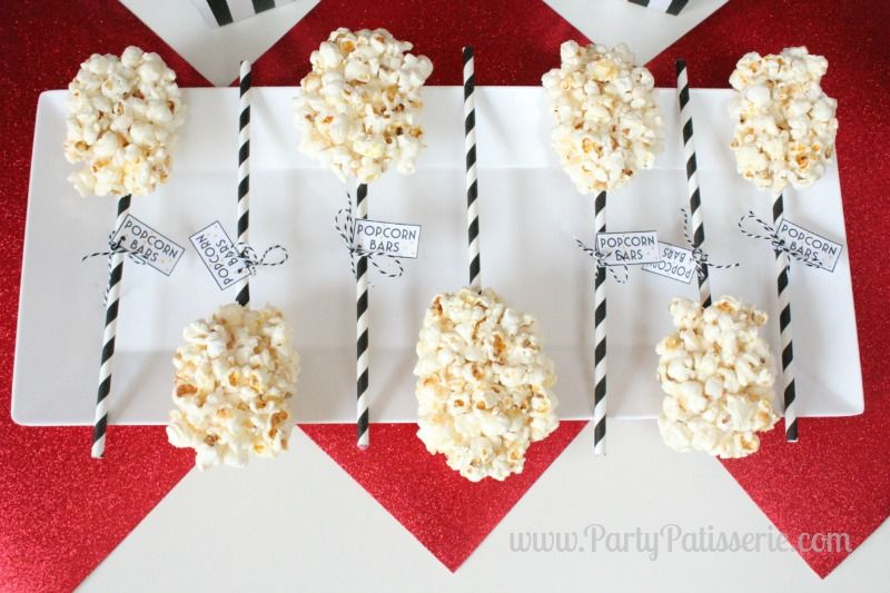 A Popcorn Party for the Oscars
