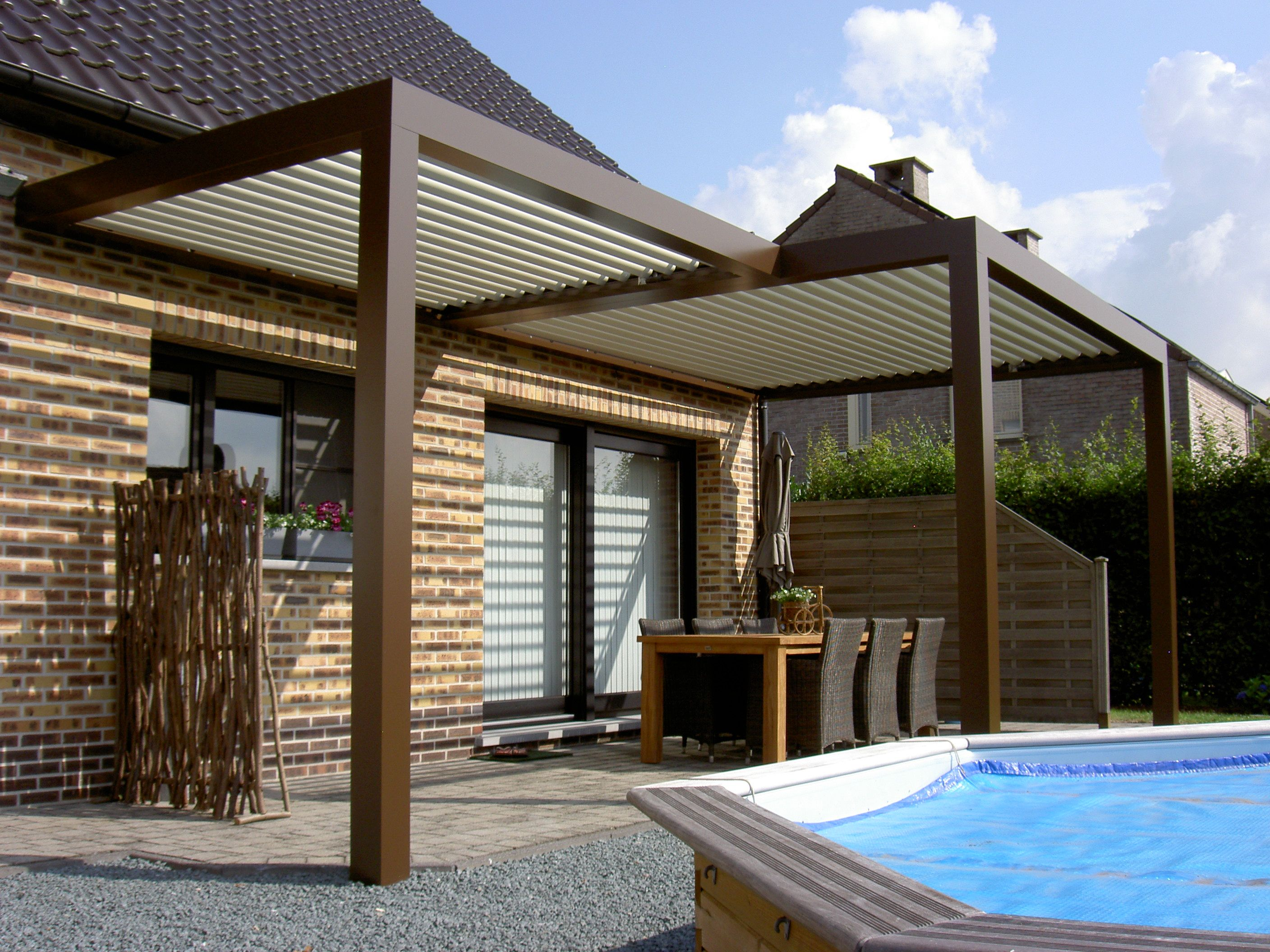 biossun benelux project terrasoverkapping pergola. Black Bedroom Furniture Sets. Home Design Ideas