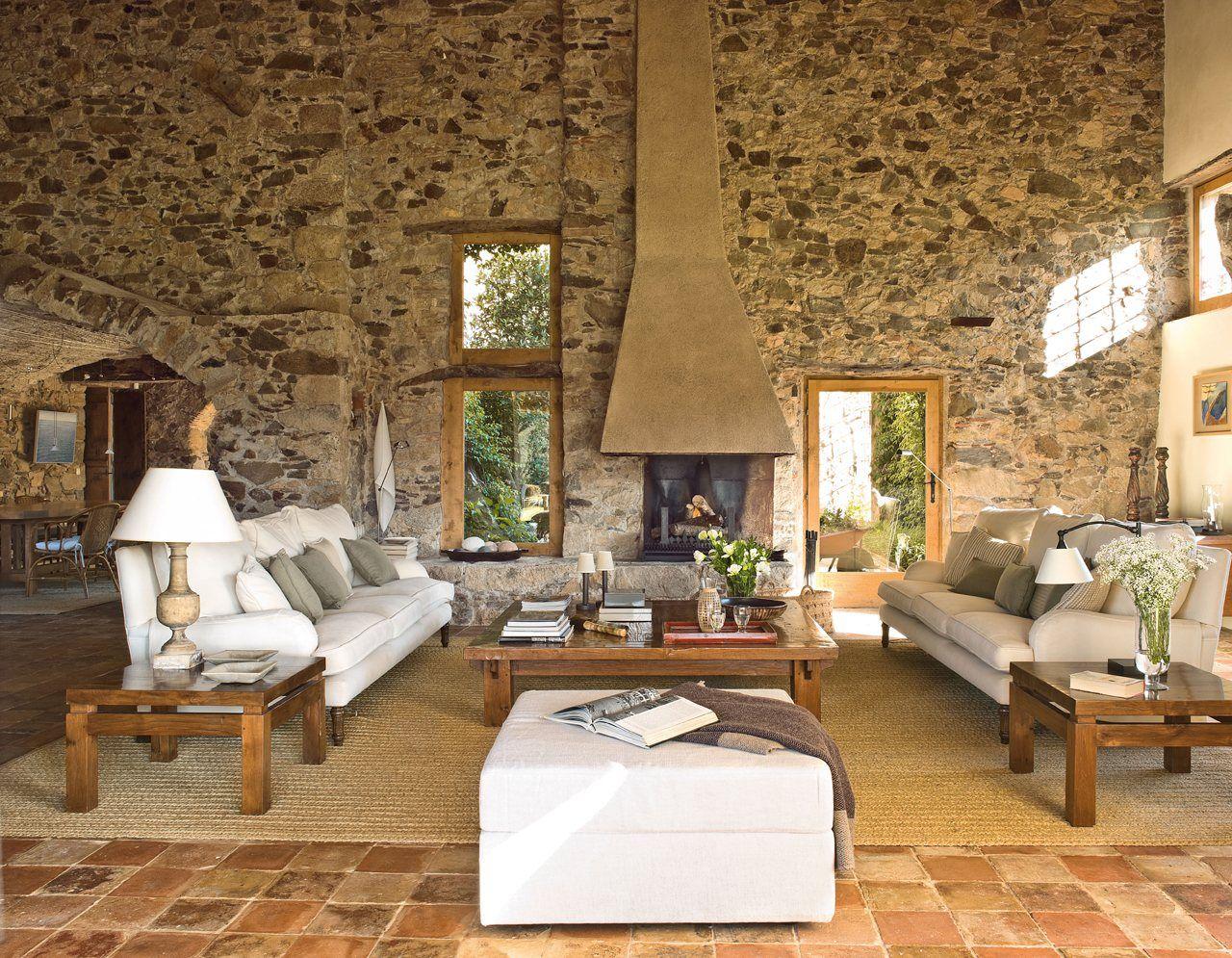 15 salones con chimenea d ambiente r stico country - Salones con chimeneas ...