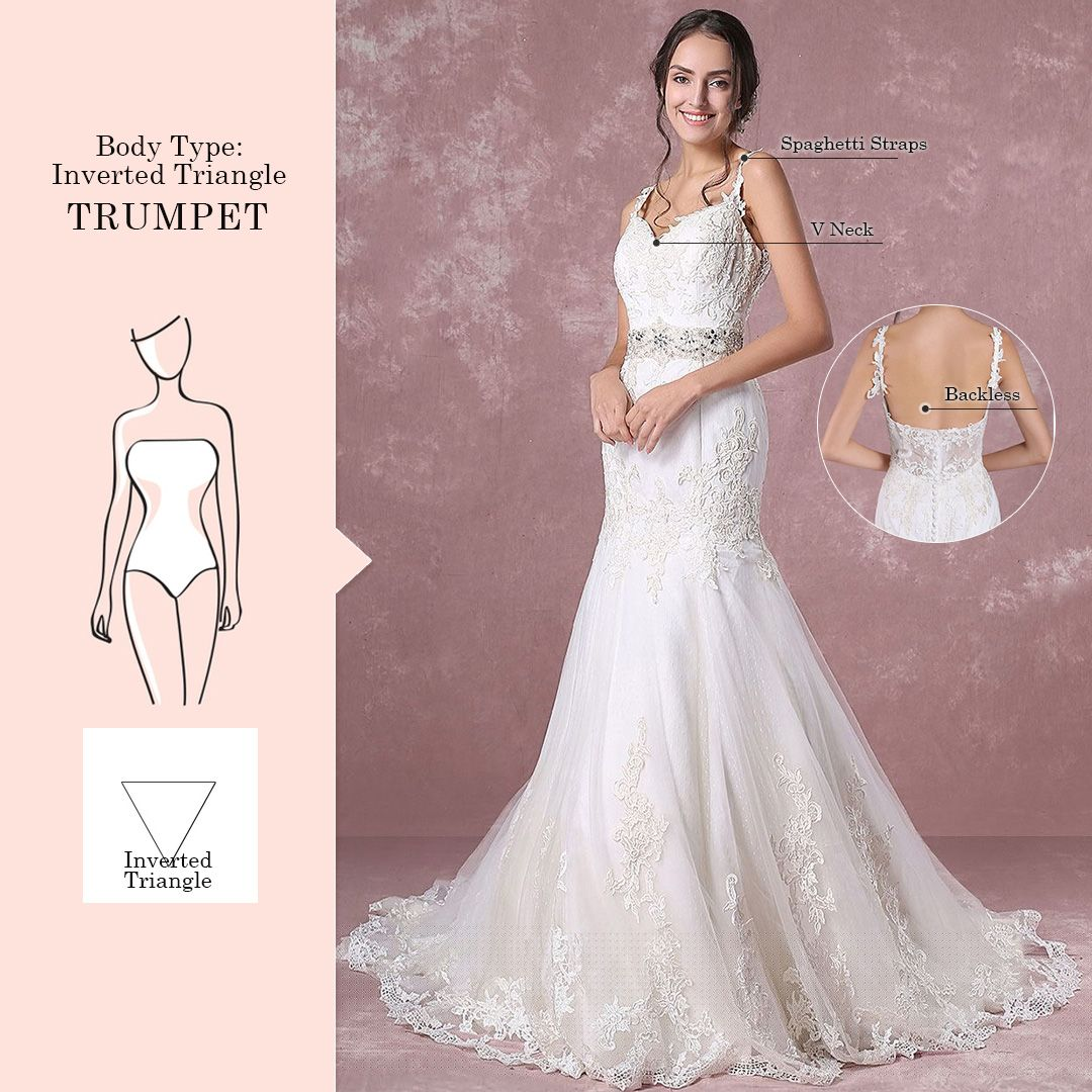 Find A Perfect Wedding Dress For Your Body Type Milanoo Blog Wedding Dress Body Type Dress Body Type Wedding Dress Long Sleeve
