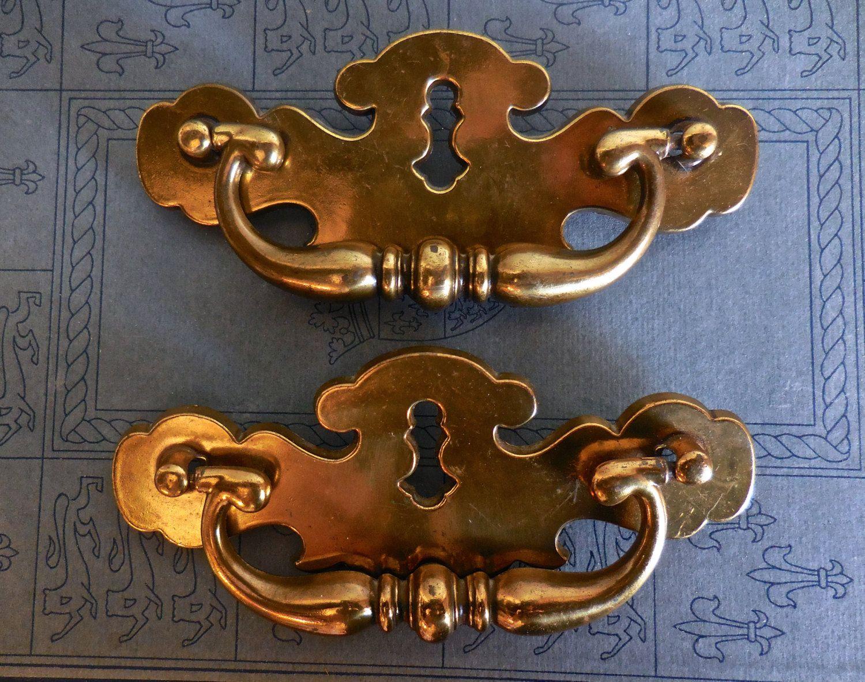 Vintage Hardware Keyhole Cabinet Drawer Pulls Large -Brass From ...
