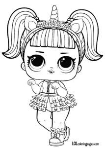 Unicorn Series 3 L O L Surprise Doll Coloring Page Boyama