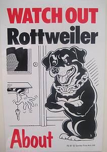 Image Detail For Funny Rottweiler Warning Sign B Gift Present Beware Of The Dog