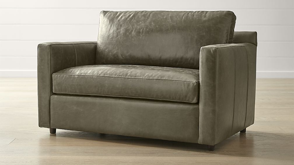 Barrett leather track arm chair and a half reviews