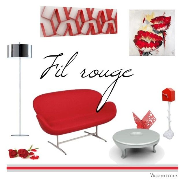"""""""Fil rouge"""" by viadurini-homedecor ❤ liked on Polyvore featuring interior, interiors, interior design, home, home decor and interior decorating"""