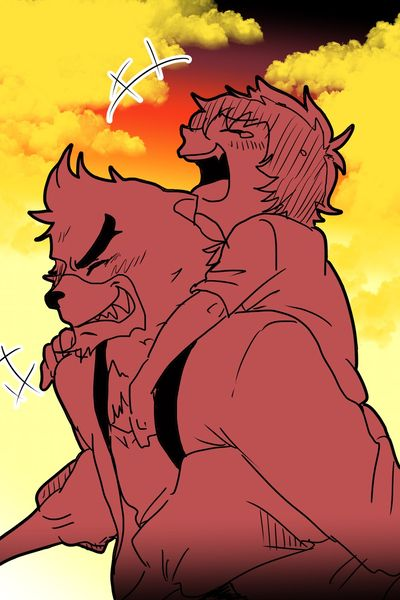 The Boy and the Beast #Kumatetsu #Kyuta (by 柚子)