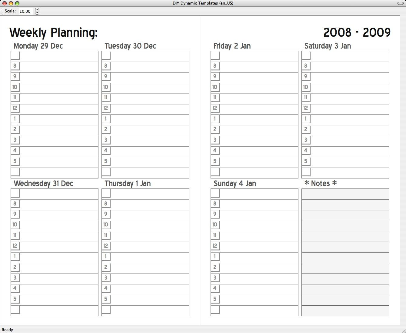 7 Day Planner Template personal profit and loss statement template – 7 Day Planner Template