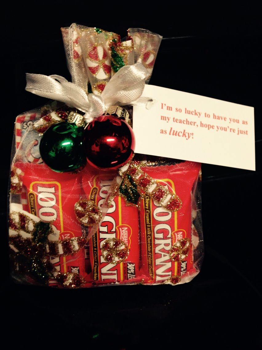 Christmas gift to my daughters teacher lotto tickets