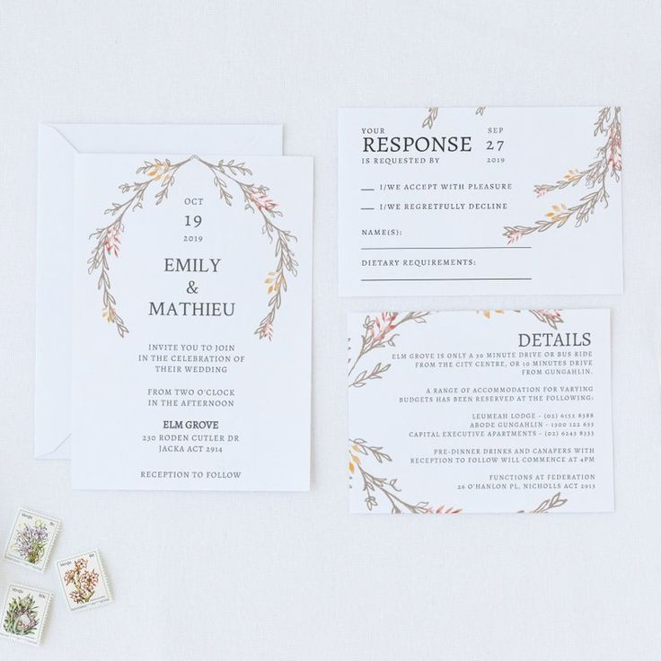 Outdoor Fall Wedding Invitation Template, Rustic Winter ...