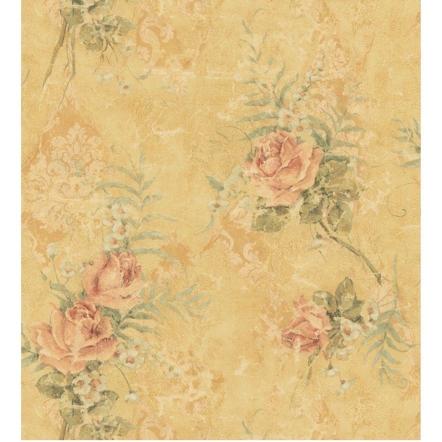 Shop Brewster Wallcovering Cameo Rose Wallpaper At Lowes Com Tarjetas