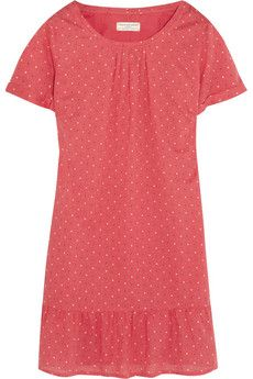 Chinti and Parker Square-print ruffled cotton-jersey dress