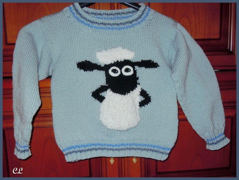 Shaun das Schaf Pullover | Stricken und Häkeln für Kinder | Pinterest