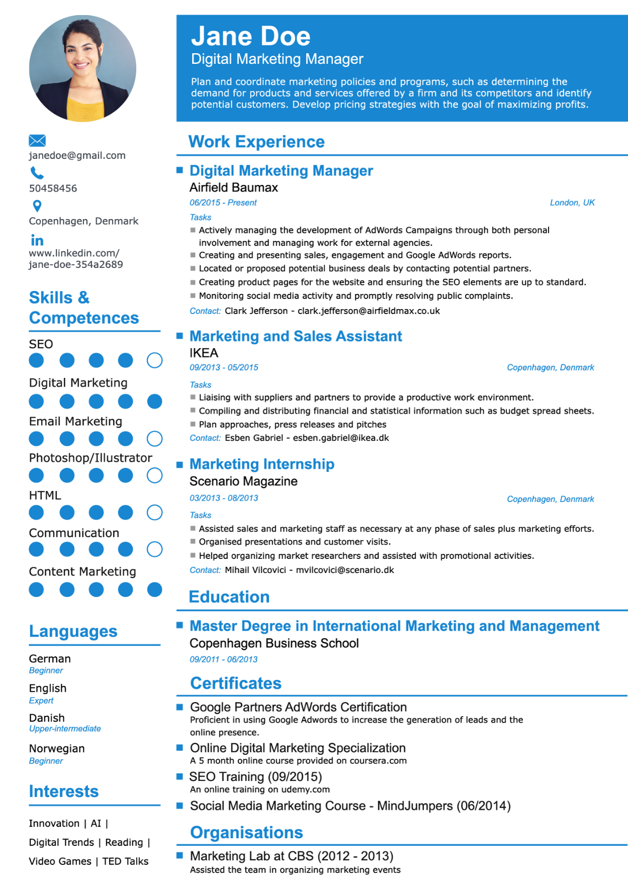 Advantages Of Resume Templates ResumeTemplates Online