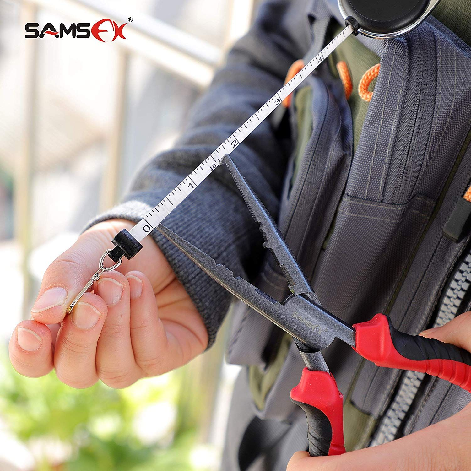 Amazon Com Samsfx Fishing Quick Knot Tool With Fly Fishing Carabiner Tape Measure Zinger Retractor Black Knot To Fly Fishing Knots Fly Fishing Fishing Knots