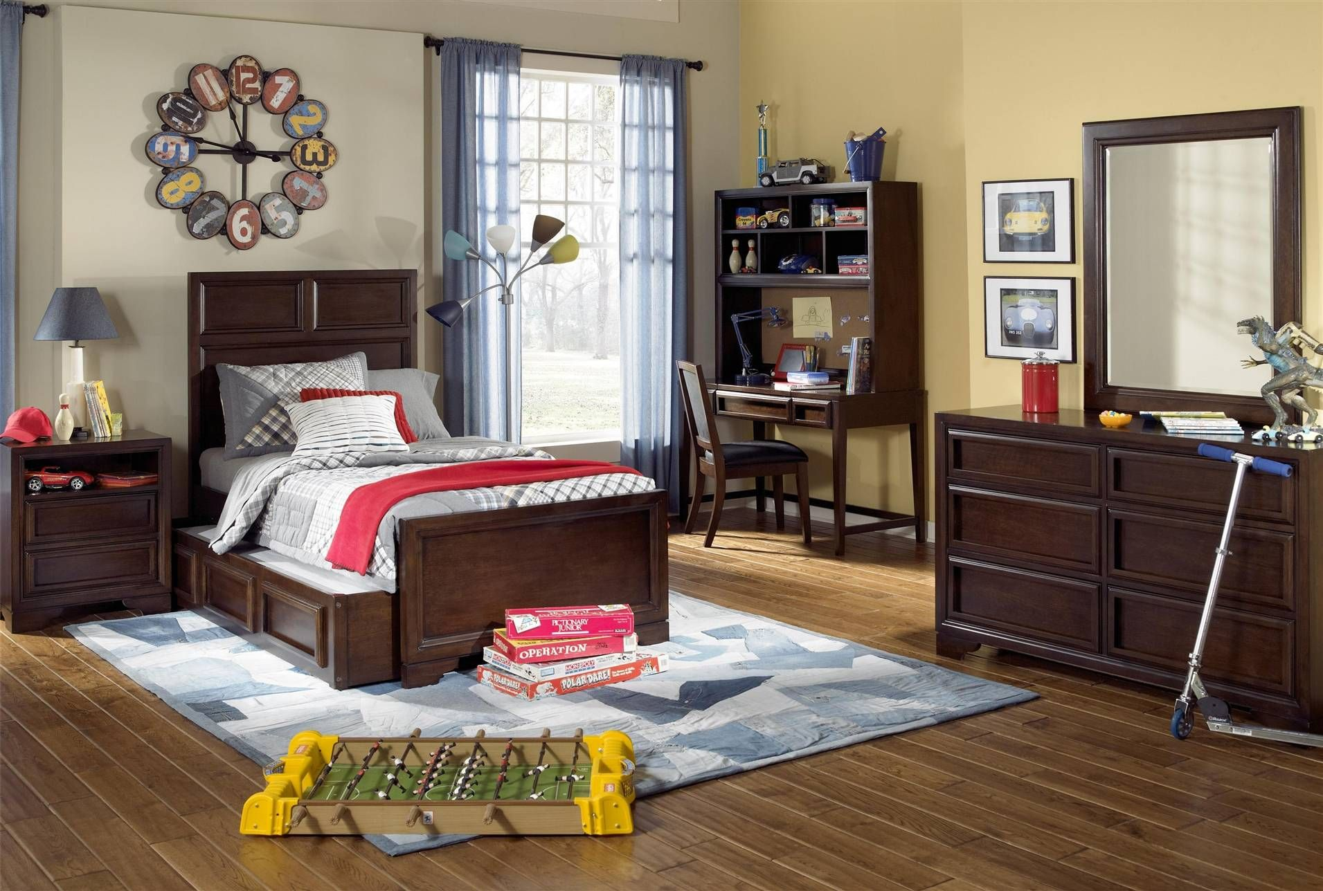 Walker Twin Panel Bed, Living Spaces Kids bedroom sets