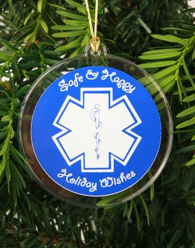 EMS Holiday Wishes Ornament or Suncatcher - EMS Holiday Wishes Ornament Or Suncatcher EMT & Paramedic