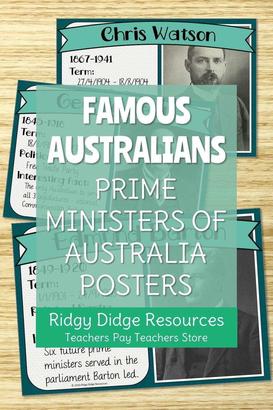 Australia's Prime Ministers Classroom Posters Classroom