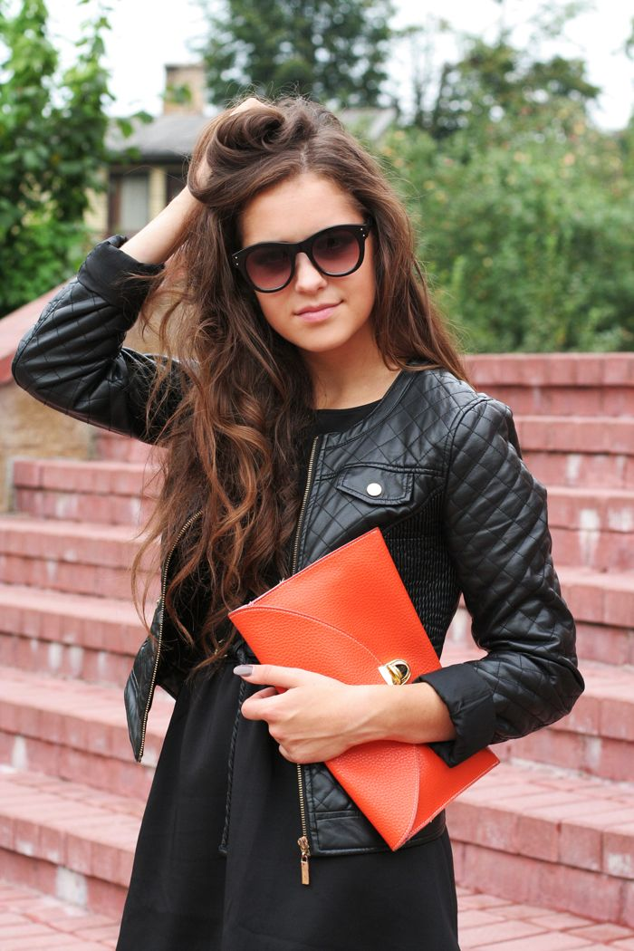 Leather over black