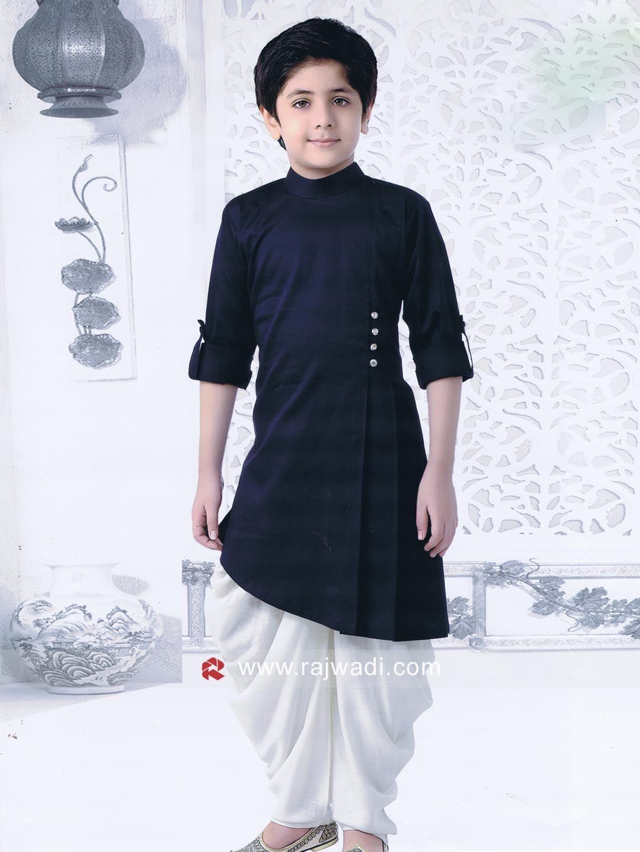 00277106e0 Layered Navy Pathani Set #rajwadi #kidswear #boys #ethnic #traditional  #modern #trendy #fashionable #kidsfashion