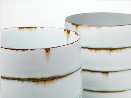 Kristen Coehol: Faux rust ceramic cups