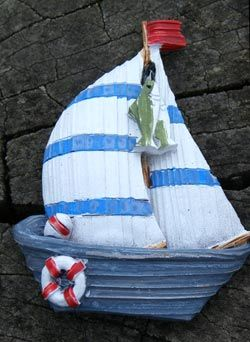 Seaside Fridge Magnet Sailing Ship Boat