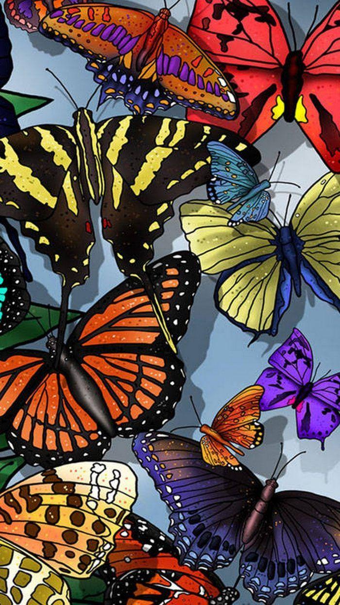 Glowing Butterfly Wallpaper iPhone Iphone wallpaper