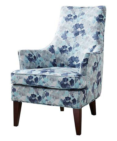 Blue Floral Swoop Arm Chair Zulily Zulilyfinds