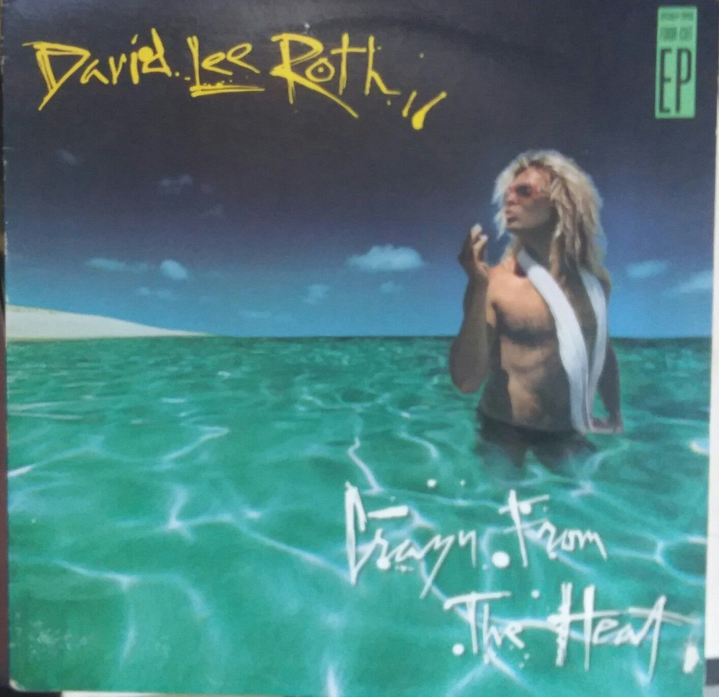 David Lee Roth Crazy From The Heart Ep Vintage Record Album Vinyl Ep Classic Cover Songs Van Halen Former Singer Showman David Lee Roth David Lee Van Halen