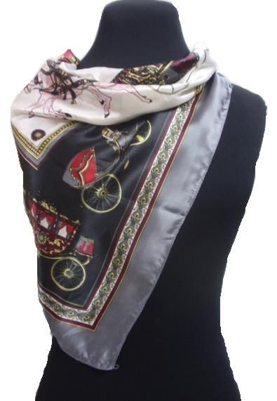 square satin foulard_fashion woman accessories.