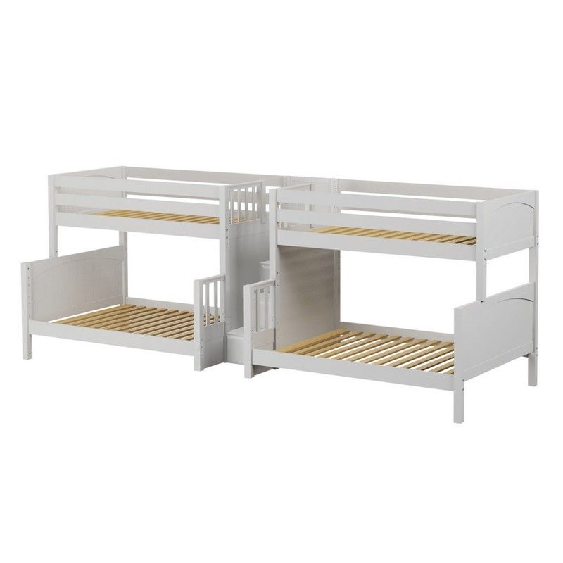 Twin Over Full Quadruple Bunk Bed With Stairs Etagenbett