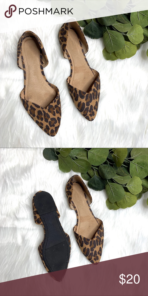 OLD NAVY LEOPARD PRINT POINTED FLATS