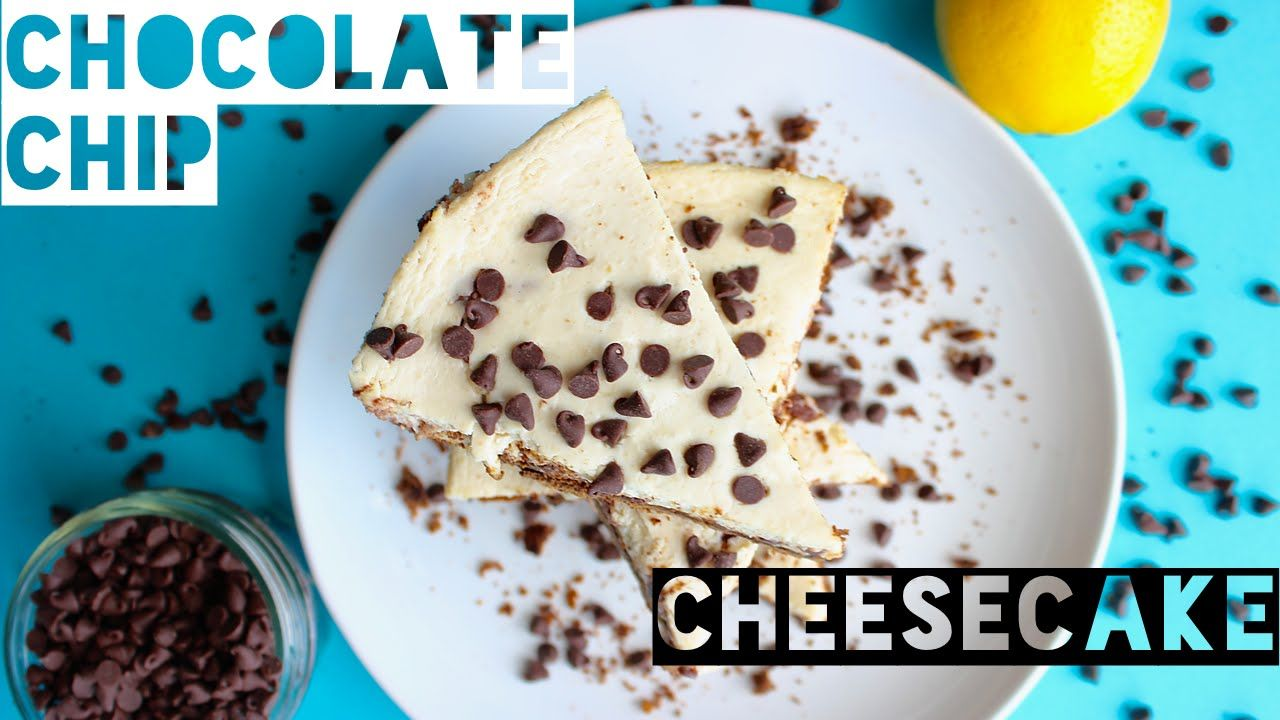 Healthy Chocolate Chip Cheesecake
