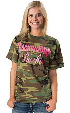 2f4d8ef204b5 Backwoods Barbie Ladies Camo w/ Neon Pink Backwoods Barbie Logo Short  Sleeve Tee | Cavender's