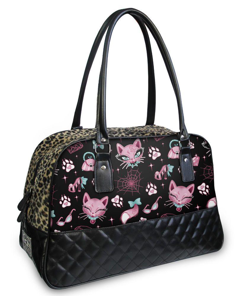Liquor Brand Handtasche Miss Kitty. Oldschool, Tattoo, Pin up, Custom Styles